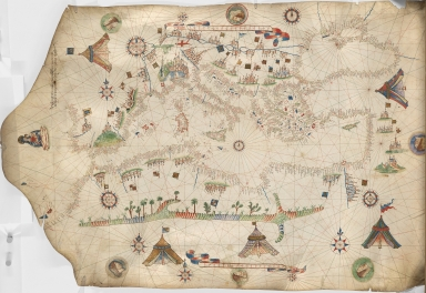 Portolan chart of the Mediterranean