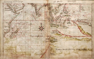 Albernaz coast map of Indian Ocean