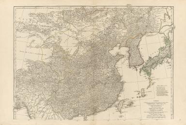 Seconde partie de la carte d'Asie, contenant la Chine et partie de la Tartarie, l'Inde au delà du Gange, les isles Sumatra, Java, Borneo, Moluques, Philippines et du Japon.Part 1