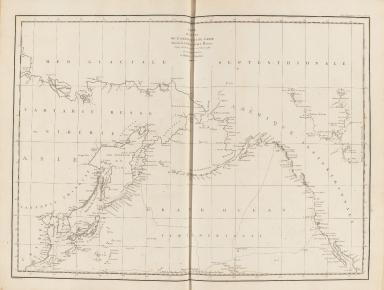 Carte des côtes de l'Amérique et de l'Asie : depuis la Californie jusqu'à Macao