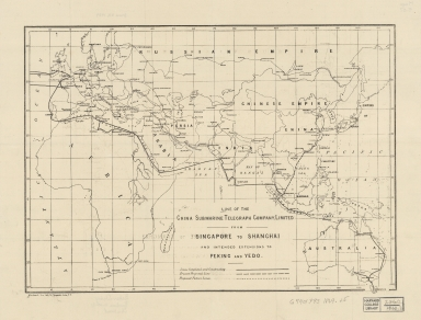 Line of the China Submarine Telegraph Company, Limited : from Singapore to Shanghai, and intended extensions to Peking and Yedo
