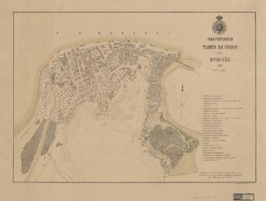 Planta da cidade de Nova Gôa, 1888