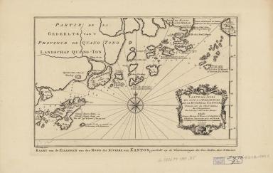 Carte des isles qui sont a l'embouchure de la riviere de Canton : dressée sur les observations des navigateurs = Kaart van de eilanden aan der mond der riviere van Kanton