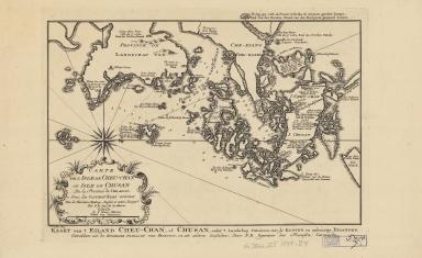 Carte de l'isle de Cheu-Chan, ou l'isle de Chusan, de la province de Che-kiang : avec les costes et isles voisines = Kaart van 't Eiland Cheu-Chan, of Chusan, onder 't Landschap Che-Kiang, met kusten en nabuurige Eilanden