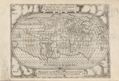 A Map of the earth with names (the most) from scriptures