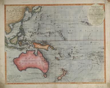 Australian (Sudland) auch Polynesien oder Inselwelt, insgemein der funfte Welttheil genannt, nach den neuesten und bewahrtesten Hulfsmitteln entworfen