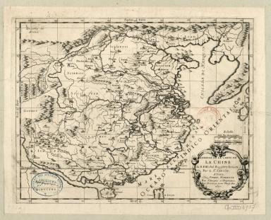 Abbregé de la carte de la Chine du R.P. Michel Ruggiery, Iesuiste