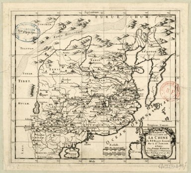 Abbregé de la carte de la Chine du R.P. Bouyn, Iesuiste