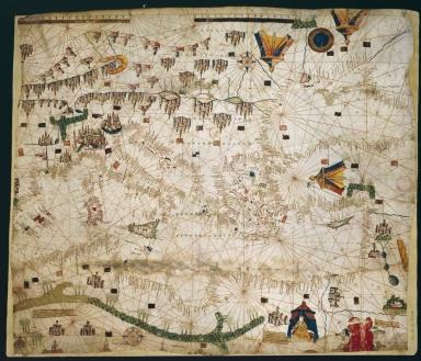 Carte marine de la mer Méditerranée et de la mer Noire