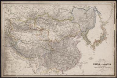 Karte von China und Japan : den manen D'Anville's und Klapproth's gewidmet