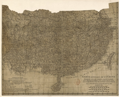 Carte generale de la Chine : dressée sur les cartes particulieres que l'Empereur Cang-hi a fait lever sur les lieux par les RR. PP. Jesuites mission[n]aires dans cet Empire