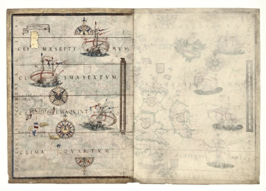 Central Atlantic Ocean with the Azores and a blank semi-folio, the atlas Miller