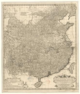 Carte générale de la Chine Dressée sur les Cartes particulières que l'Empereur Cang-hi a fait lever sur les lieux par les RR. PP. Jésuites missionaires dans cet empire