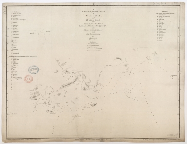 A chart of part of the coast of China, and the adjacent islands from Pedro Blanco to the Mizen : laid down from observations made in 1759 and 1760, in the Schooner Cuddalore, and in the Ship London, 1764