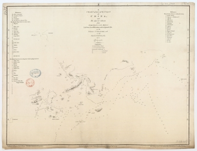 A chart of part of the coast of China and the adjacent islands from Pedro Blanco to the Mizen, laid down from observations made in 1759 and 1760 in the Schooner Cuddalore and in the ship London, 1764