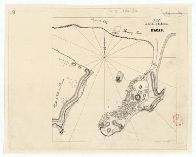 Plan de la ville et des environs de Macao