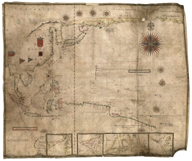 Carte de l'Océan Pacifique