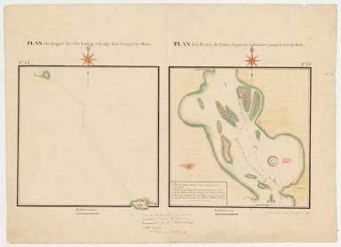 Plan des dangers des isles Linling & Longu dans l'archipel de Macao