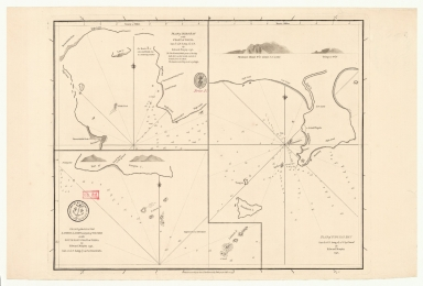 [Plan of Mirs Bay on the coast of China, Chart of the island Lamock, Lamon, Plan of Ping Hai Bay]