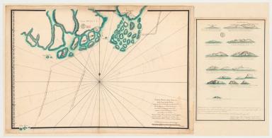 Carte plate d'une partie de la coste de Chine, depuis les isles Pulo-Taya au nord est de l'isle de Haynam, et toutes les isles tant de la la partie de l'ouest que celles de l'e[st] servant de reconnoissance pour l'entrée de la rivière de Canton