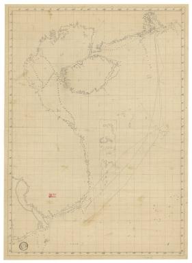 Carte d'une partie de la mer de Chine