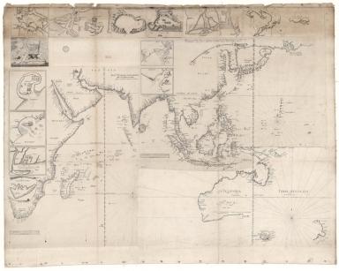 [Carte de l'Océan Indien, des cotes de l'Afrique et de l'Asie depuis le cap de Bonne-Espérance jusqu'au Japon]