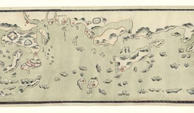 Carte manuscrite des côtes de Chine et de l'île Haïnan. Part 6