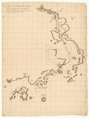 Carte de l'entrée de Canton sur la côte de la Chine