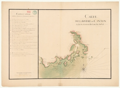 Carte de la rivière de Canton et de ses environs du costé du sud est [corrigé :] ouest
