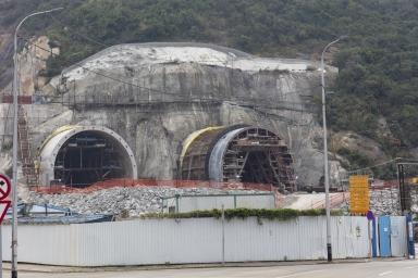 建設中的九澳隧道