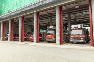 何鴻燊博士大馬路,消防總局及消防車