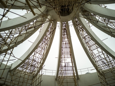 """""""葡京酒店""""建築頂部的裝飾結構"""