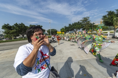 """觀光塔前地,菲律賓""""宿霧聖嬰節"""""""