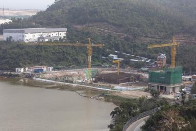 石排灣,建設中的自來水配套工程