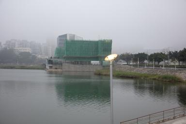 西灣湖一帶霧景