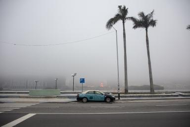 南灣湖一帶霧景
