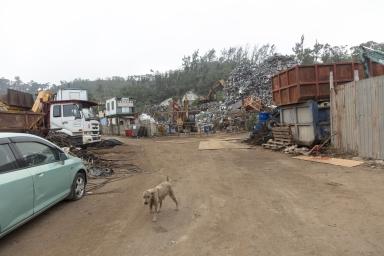 """九澳,""""東亞""""五金鋼鐵回收,為本澳較大型的鋼鐵回收商家"""
