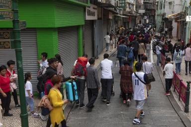 分流到關前街的人流