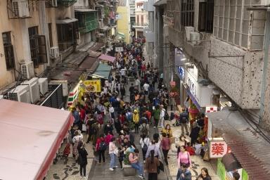 大堂巷的人流