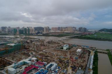 建設中的橫琴新口岸邊檢大樓