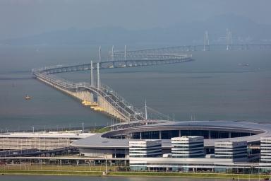 港珠澳大橋及人工島