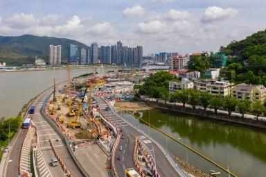 建設中的媽閣交通樞紐