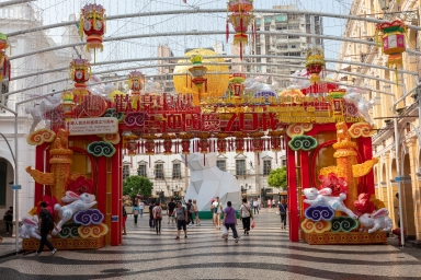 議事亭前地中秋、國慶燈飾