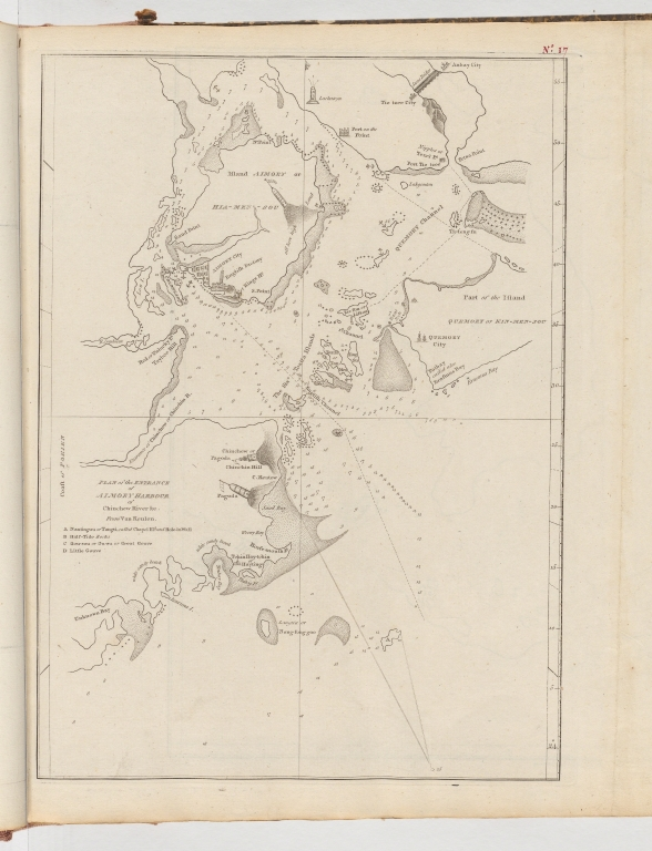 Plan of the entrance of Aimoey Harbour of Chinchew River &c.