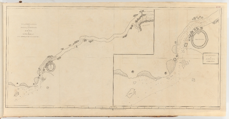 Plan of Limpo or Ning-Po in the province of Tchekiang in China = Plan of the entrance of Limpo River on double the scale