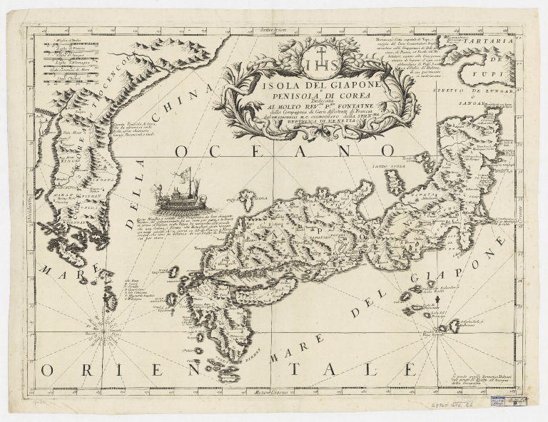 Isola del Giapone e penisola de Corea