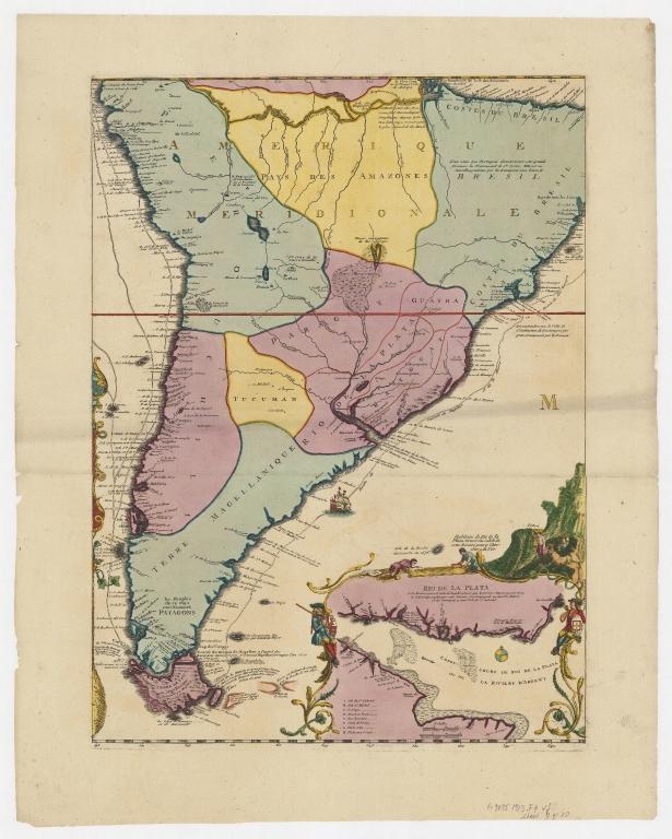 Carte de la Mer du Sud et de la Mer du Nord : ou se trouve les costes d'Amerique, d'Asie, d'Europe et d'Afrique situées sur ces mers. Part 9