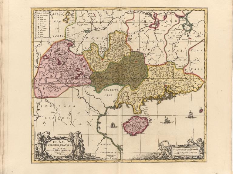 Iunnan, Queicheu, Quangsi, et Quantung : Provinciae Regni Sinensis, Praefecturae dictae : hoc est Meridiem inter et Occidentalis sitae