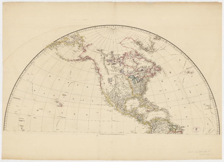 Map of the world on a globular projection : exhibiting particularly the nautical researches of Capn. James Cook, F.R.S. with all the recent discoveries to the present time.Part 3