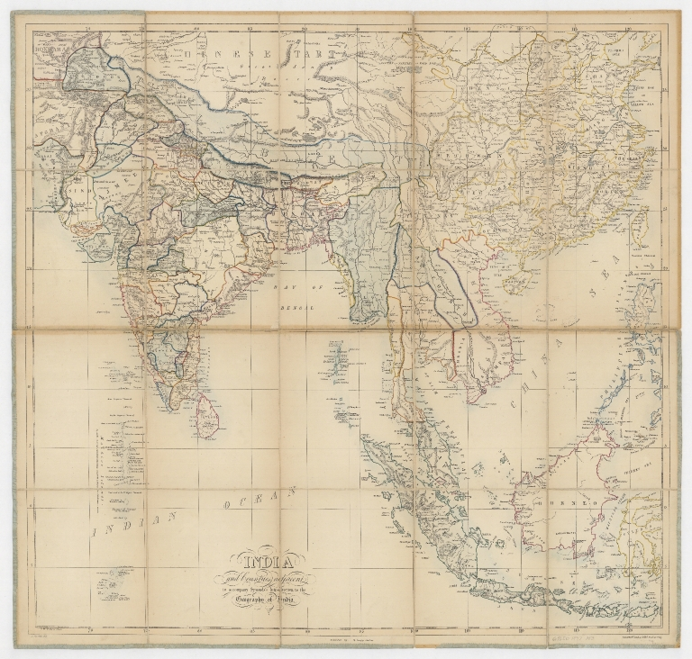 India and countries adjacent : to accompany Symond's Introduction to the geography of India